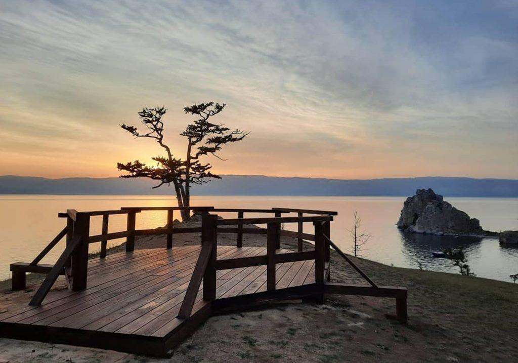 Panoramic viewpoint on Burkhan cape_Baikal